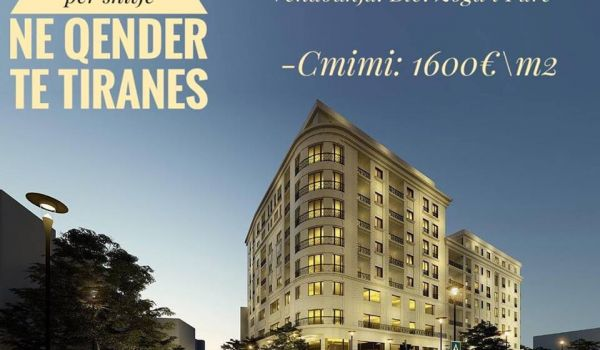 Tirane, shes apartament 1+1+A+BLK, 73 m2 117.000 Eur (Blvd ZOGU I)