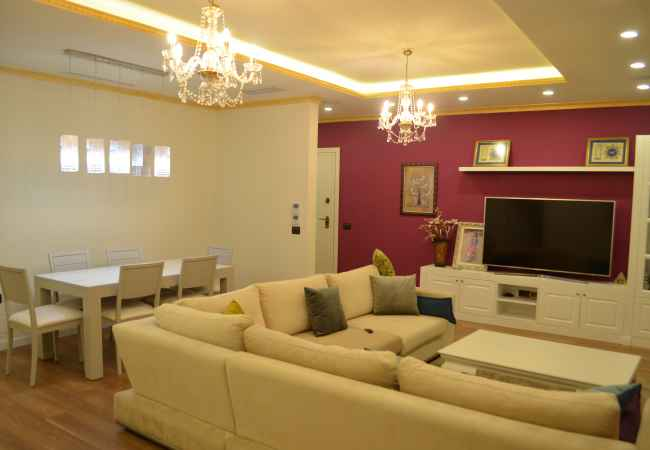 Three bedroom apartment for sale in Myslym Shyri. Luxury apartment for sale in Myslym Shyri area. The apartment is located in a ne