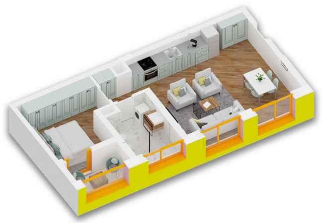 id:161625 - Apartament 1+1 Super Okazion tek Ali Demi, Kompleksi Mangalem21