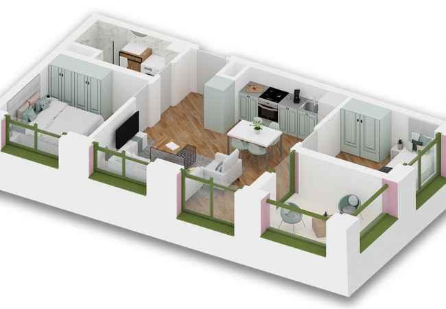 id:152150 - Apartment for sale in Ali Demi 2 + 1, 79 m2 - 58000 Euro