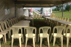Sherbime Organizime festash Noka Event- Tavolina karrige tenda stola me qera