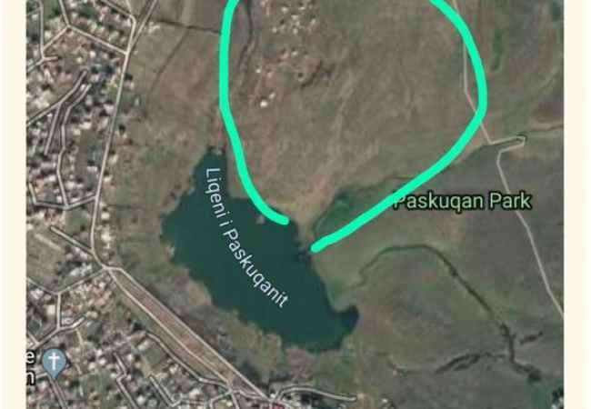 Toke tek Liqeni i Paskuqanit Shitet-Toke tek Liqeni i Paskuqanit!Siperfaqa Totale-4500 m2Me Certifikat Po