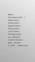 Pune Oferta Kurse Profesionale Kurse gjuhe Gjermanisht, Anglisht , Greqisht,Frengjisht,Spanjisht ,Turqisht,Italisht